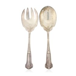 Wallace Silver Salad Serving Fork and Berry Spoon  JRM255