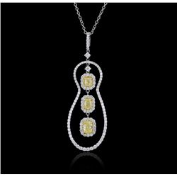 18KT White Gold 0.80ctw Diamond Pendant FJM2909