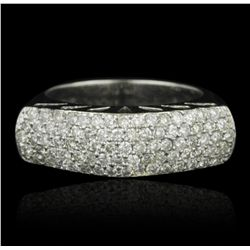 18KT White Gold 0.99ctw Diamond Ring A5108