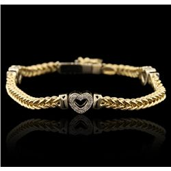 18KT Two Tone Gold 0.70ctw Diamond Bracelet GB4501