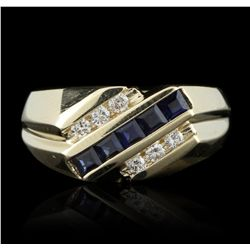 14KT Yellow Gold 0.50ctw Sapphire and Diamond Ring GB2659