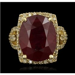 14KT Yellow Gold 15.57ct Ruby and Diamond Ring RM1869