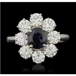 18KT White Gold 1.48ct Sapphire and Diamond Ring FJM3210