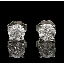 14KT White Gold 1.37ctw Diamond Solitaire Earrings GB4389