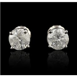 14KT White Gold 1.52ctw Diamond Solitaire Earrings A5582