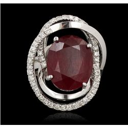 14KT White Gold 9.44ct Ruby and Diamond Ring A7003