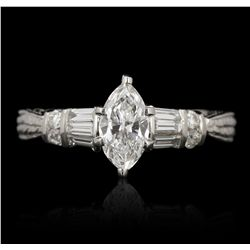 14KT White Gold 0.54ct GIA Certified Diamond Ring GB3493