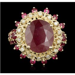 14KT Yellow Gold 11.22ct Ruby and Diamond Ring RM1765