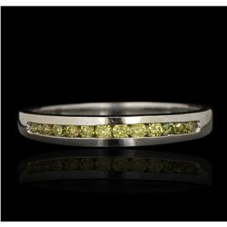 14KT White Gold 0.14ctw Yellow Diamond Ring GB4485