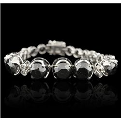 14KT White Gold 30.91ctw Black and White Diamond Bracelet RM1336