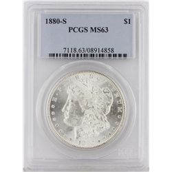 1880-S Morgan Silver Dollar PCGS Graded MS63 SCE1069