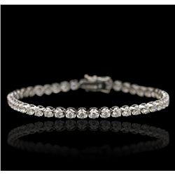 18KT White Gold 4.71ctw Diamond Tennis Bracelet A6750