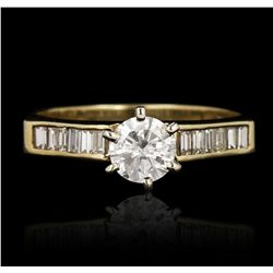 14KT Yellow Gold 0.99ctw Diamond Ring GB2253