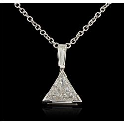 18KT White Gold 3.51ctw Diamond Necklace A5861