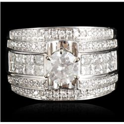 14KT White Gold 1.01ct I-1/H Diamond Ring RM1122
