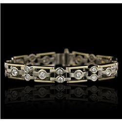 14KT White and Yellow Gold 2.00ctw Diamond Bracelet GB4723