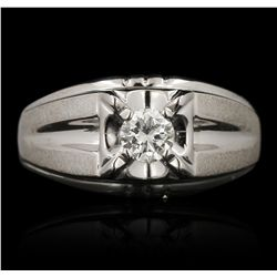 14KT White Gold 0.52ct Diamond Ring FAA58