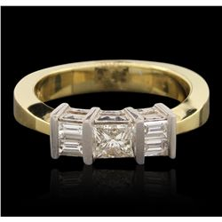 14KT Two Tone Gold 0.73ctw Diamond Ring GB4458