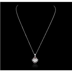 18KT White Gold 1.01ctw Diamond Pendant GB2427