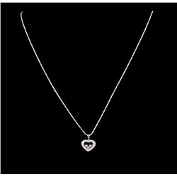 14KT White Gold 0.30ctw Diamond Pendant with Chain A5291