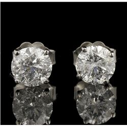 14KT White Gold 1.66ctw Diamond Solitaire Earrings GB4391
