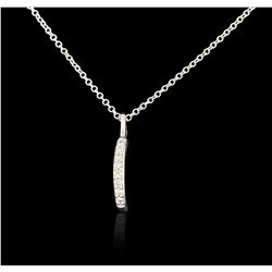 14KT White Gold 0.05ctw Diamond Pendant With Chain GB4421