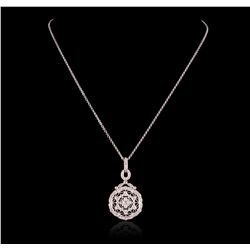 14KT White Gold Pendant with Chain GB2436