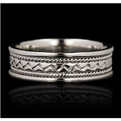14KT White Gold Band Ring GB4655
