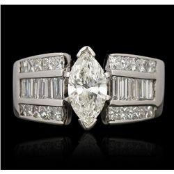14KT White Gold 0.77ct SI2/G EGL USA Certified Diamond Ring GB3501