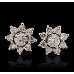 14KT White Gold 1.00ctw Diamond Earrings GB4609