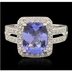 14KT White Gold 2.80ct Tanzanite and Diamond Ring RM1576