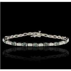 14KT White Gold 4.40ct Alexandrite and Diamond Bracelet DJ59
