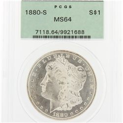 1880-S Morgan Silver Dollar PCGS Graded MS64 SCE1149