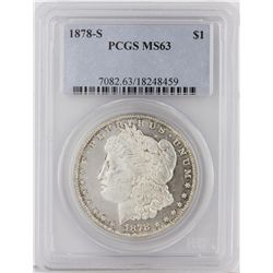 1878-S Morgan Silver Dollar PCGS Graded MS63 SCE1217