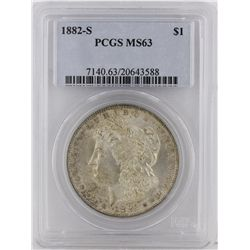 1882-S Morgan Silver Dollar PCGS Graded MS63 SCE1090