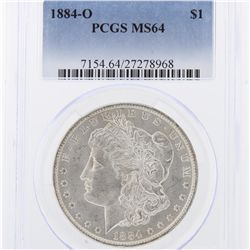 1884-O Morgan Silver Dollar PCGS Graded MS64 SCE1013