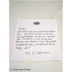 P.S. I Love You Gerry (Gerard Butler), Holly (Hilary Swank) Movie Props