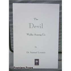 Halloween 2 The Devil Walks Among Us Book Prop