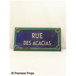 Inglourious Basterds Rue Des Acacias Wood Sign