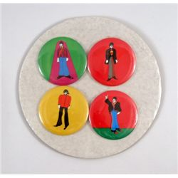 Beatles Yellow Submarine Original Set Of Buttons