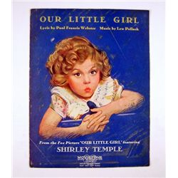 Our Little Girl Shirley Temple Original Title Sheet Music