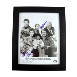 Webster Cast Photo Signed by Alex Karras & Susan Clark