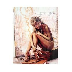 Farrah Fawcett Autographed Topless Color Photo