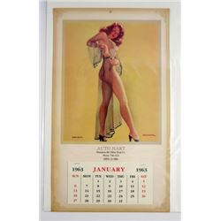 Pin Up Sheer Beauty 1963 Calendar