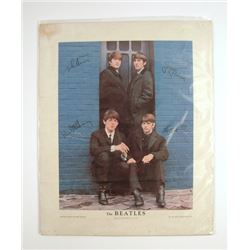 The Beatles Lithograph Poster