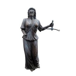 Falling Skies Blindfolded Lady of Justice Statue Movie Props