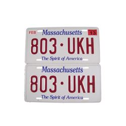 Falling Skies Denny (Megan Danso)  Massachusetts License Plates Movie Props