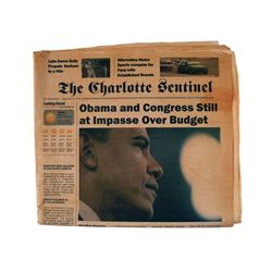"Falling Skies Season 5 ""The Charlotte Sentinel"" Newspaper Movie Props"