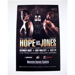 Madison Square Garden Light Heavyweight Fight Poster Movie Props