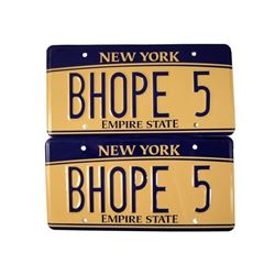 Southpaw Billy Hope (Jake Gyllenhaal) License Plates Movie Props